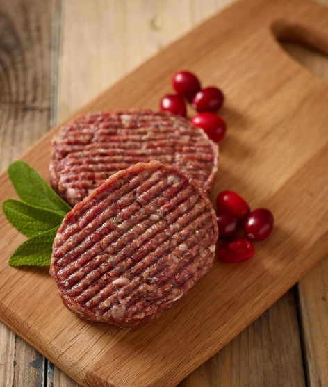 Venison and Cranberry Burger